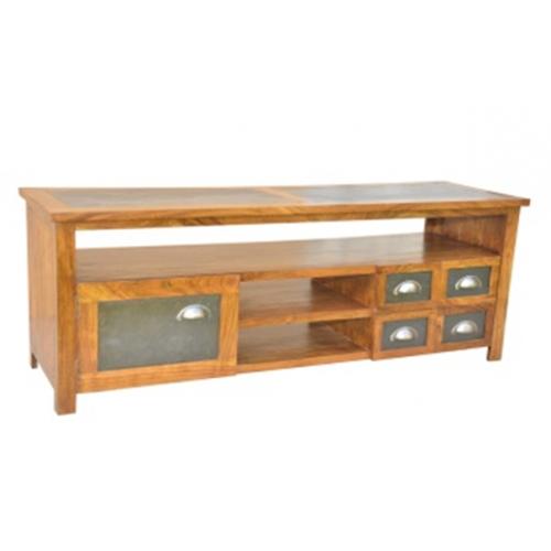 Meuble tv Atelier haut de gamme en bois d'acacia massif