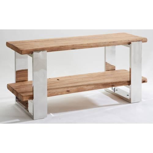 Meuble tv Stainless ethnique chic en bois et métal 150cm