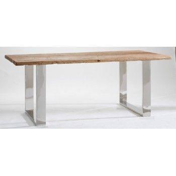 Table de repas ethnique chic en orme Stainless 200cm