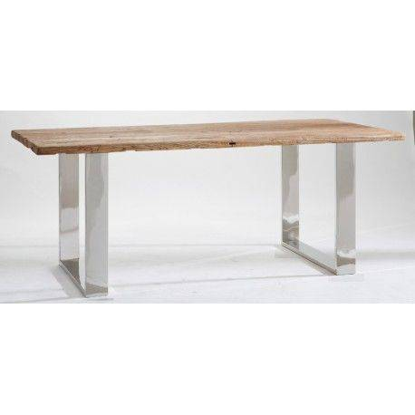 STAINLESS TABLE DE REPAS 240CM