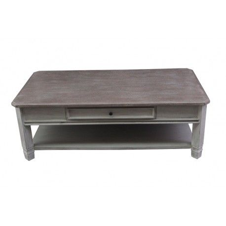MANOIR  TABLE BASSE RECTANGULAIRE 130cm x 70cm