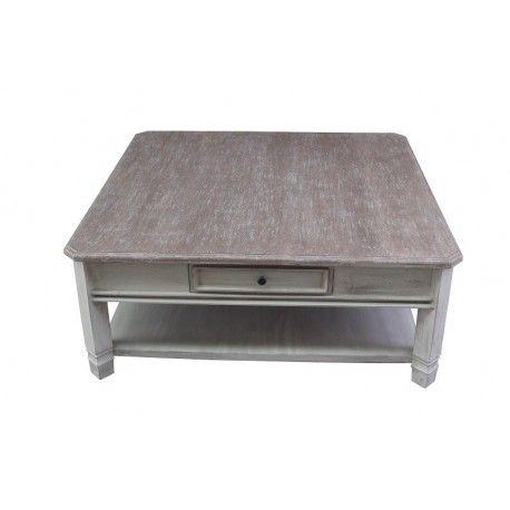 MANOIR  TABLE BASSE CARRÉE 110cm x 110cm