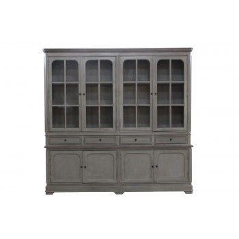 Buffet Manoir haut de gamme en bois manguier massif 4 portes et 4 tiroirs