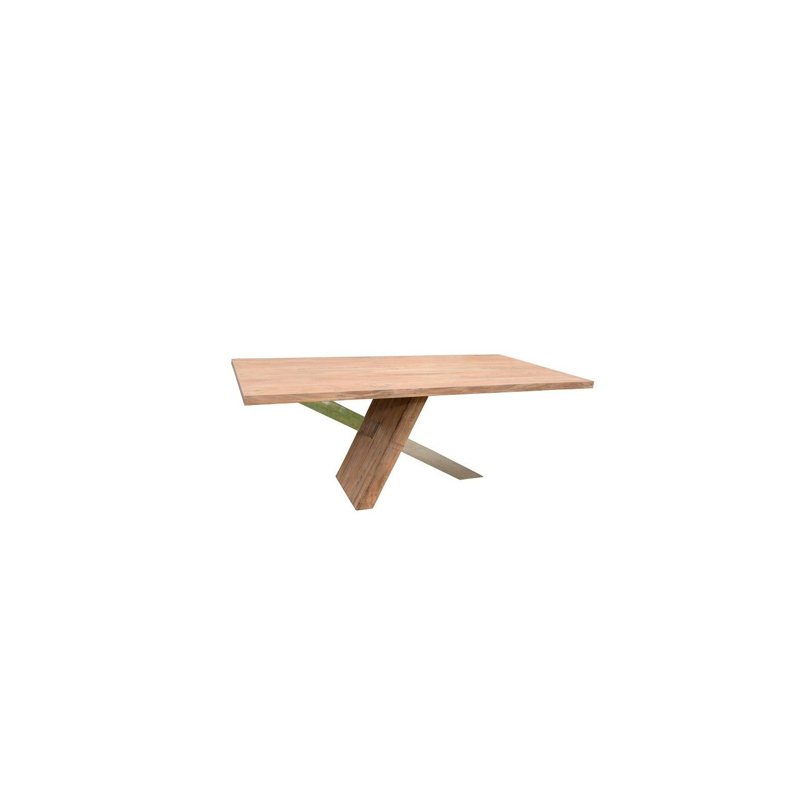 STAINLESS III TABLE DE REPAS PURE 190 x 100 Bois Acacia Stainless . - 366