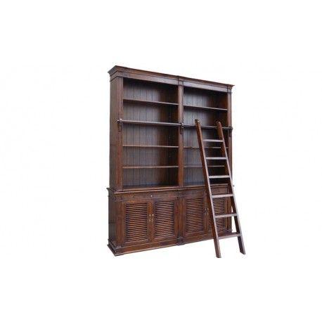 Bibliothèque échelle en 6 parties