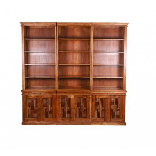 Bibliothèque échelle en 6 parties Pleiade en bois d'acacia massif