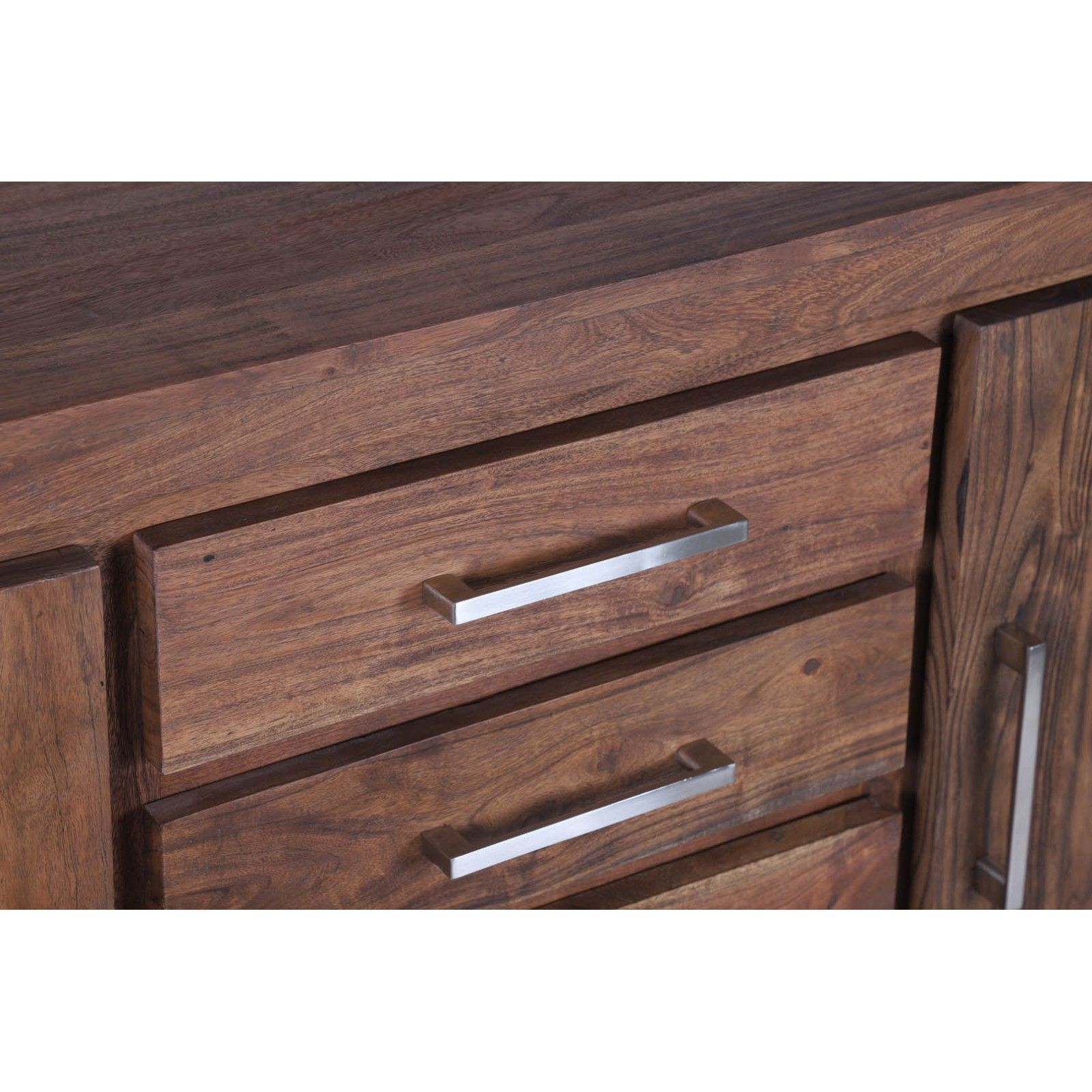 STAINLESS III BUFFET PM 2P 4T Bois Acacia Stainless . - 476