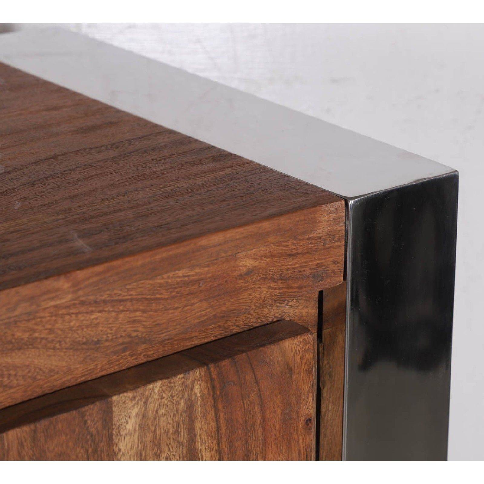STAINLESS III BUFFET PM 2P 4T Bois Acacia Stainless . - 484