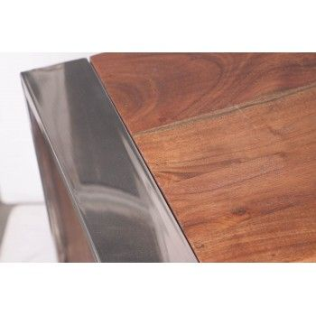 STAINLESS III BUFFET PM 2P 4T Bois Acacia Stainless . - 490
