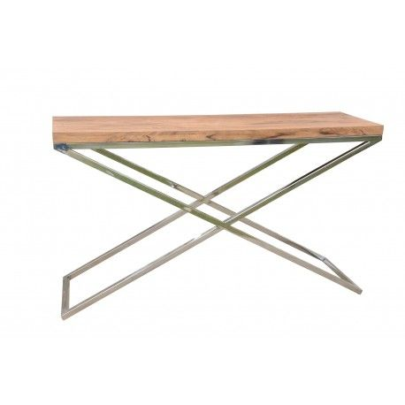 CONSOLE 140CM PIEDS EN X STAINLESS II