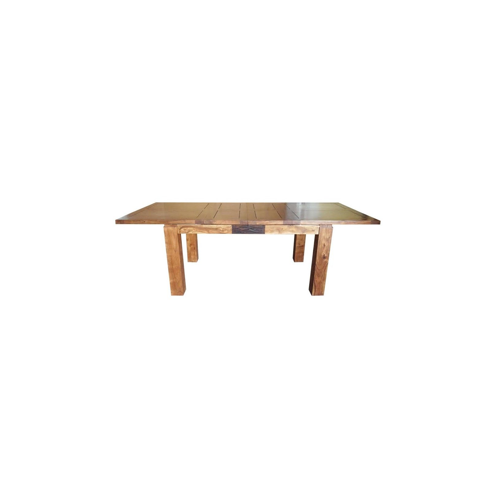 """Table de repas rectangulaire bois sculpté bicolore 160/240 """"Acacia Maya"""" XXX Bois Acacia Maya - 228"""