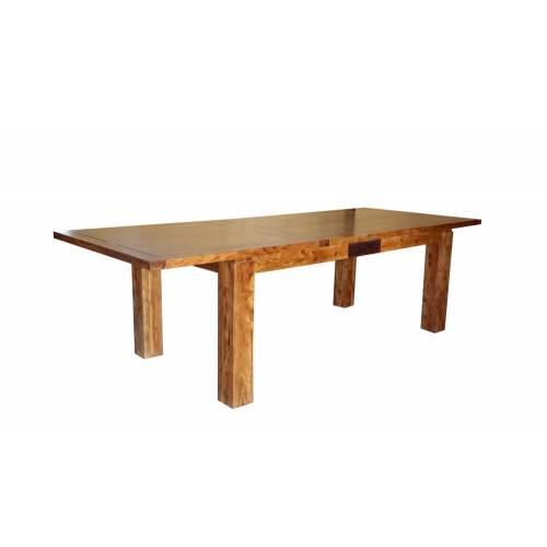 """Table de repas rectangulaire bois sculpté bicolore 160/240 """"Acacia Maya"""" XXX Bois Acacia Maya - 254"""