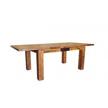 """Table de repas rectangulaire bois sculpté bicolore 160/240 """"Acacia Maya"""" XXX Bois Acacia Maya - 394"""