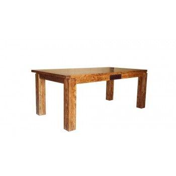 """Table de repas rectangulaire bois sculpté bicolore 160/240 """"Acacia Maya"""" XXX Bois Acacia Maya - 413"""