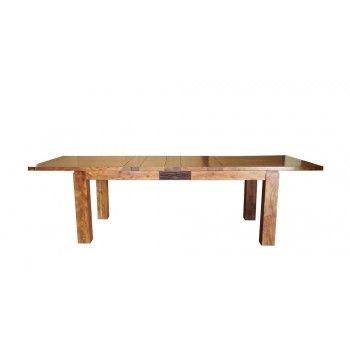 """Table de repas rectangulaire bois sculpté bicolore 200/280 """"Acacia Maya"""" XXX Bois Acacia Maya - 353"""
