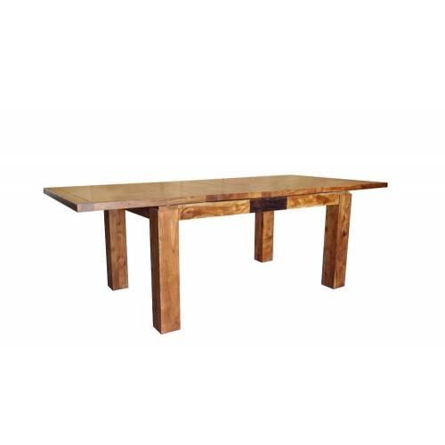 """Table de repas rectangulaire bois sculpté bicolore 200/280 """"Acacia Maya"""" XXX Bois Acacia Maya - 393"""