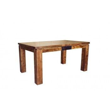 """Table de repas rectangulaire bois sculpté bicolore 200/280 """"Acacia Maya"""" XXX Bois Acacia Maya - 427"""