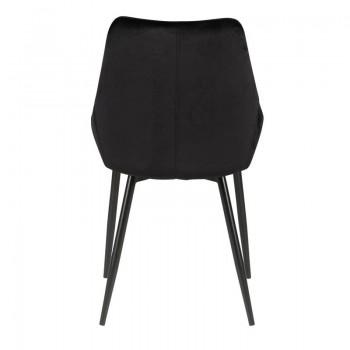 Chaise en velours noire haut de gamme