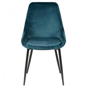 Chaise en velours bleu haut de gamme