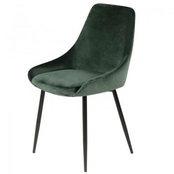 Chaise en velours vert sapin haut de gamme
