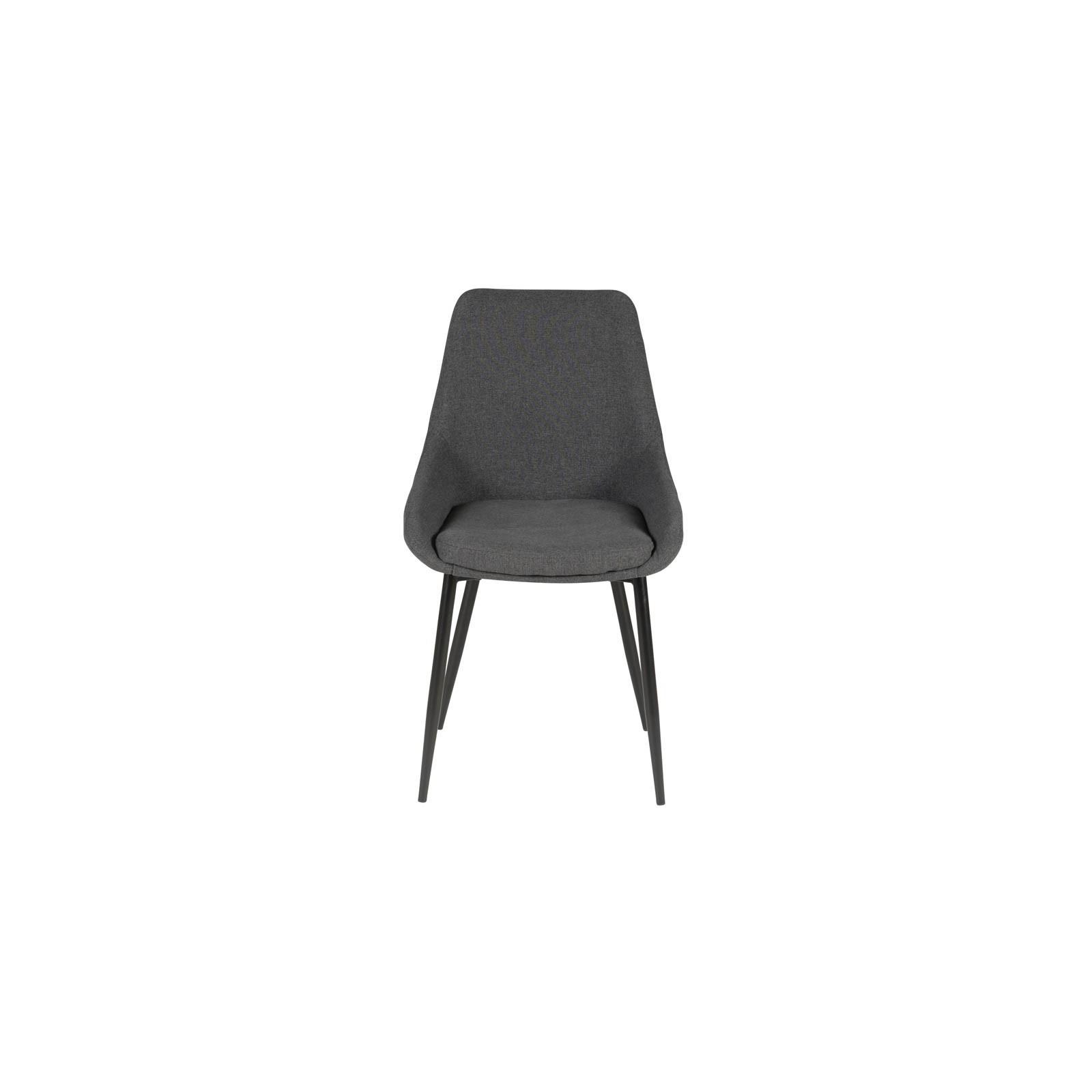 Chaise en tissu gris fonc haut de gamme bois et chiffons Chaise en tissu gris