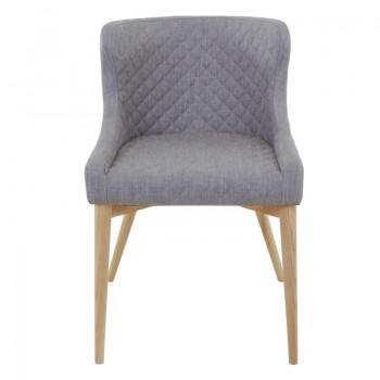 Chaise gris clair ethnique chic