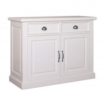 Bahut 2 portes 2 tiroirs romantique chic - achat meubles design