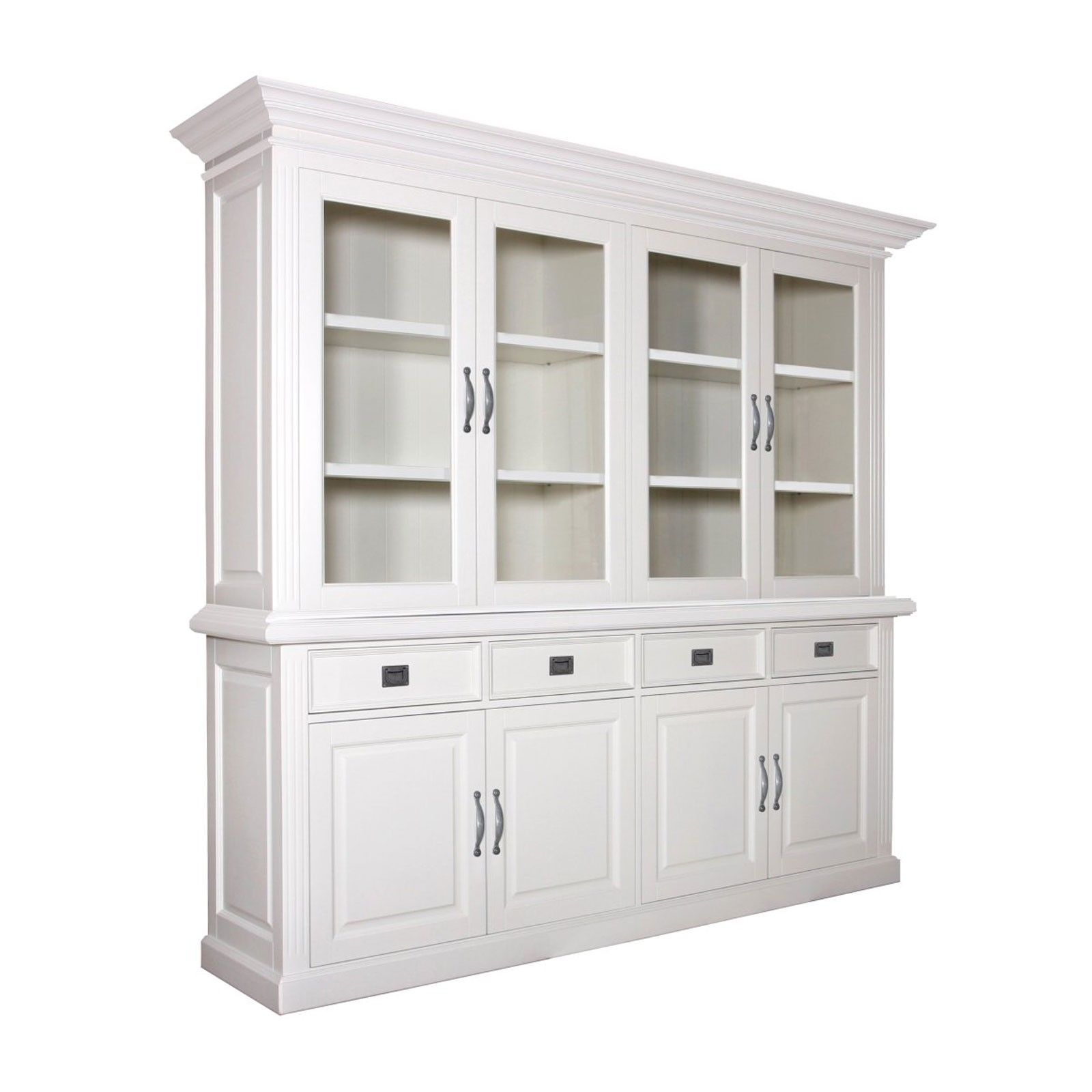 Buffet deux corps 2x4 portes 4 tiroirs romantique Chic - meuble design