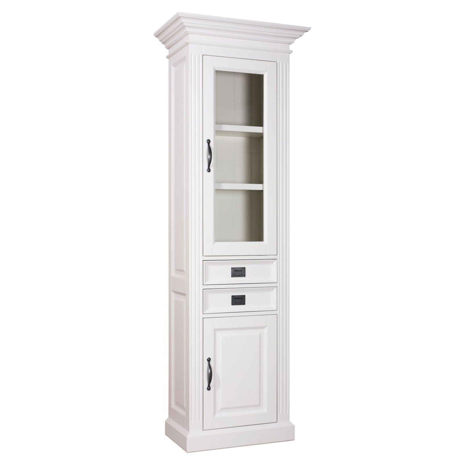 Vitrine 2x1 porte 2 tiroirs romance - achat meubles blancs