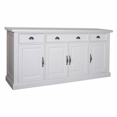 Bahut 4 portes 3 tiroirs - mobilier romantique chic