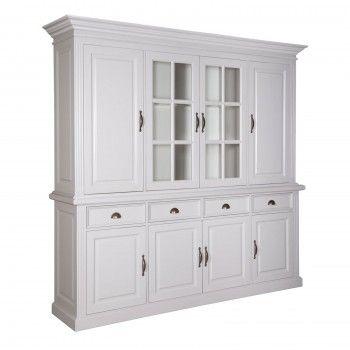 Vitrine 2x4 portes 4 tiroirs Chic - design romantique