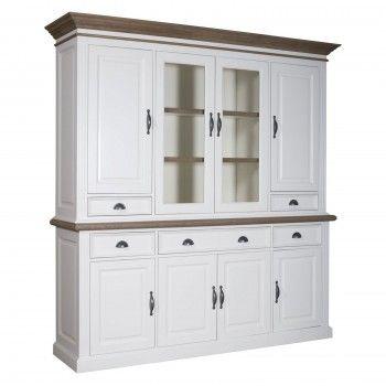 """Cabinet 2x4 portes 5 tiroirs """"Chêne et Pin Romance"""" - achat cabinet haut de gamme"""