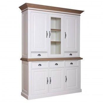 "Cabinet 2x3 portes 5 tiroirs ""Chêne et Pin Romance"" - achat cabinet"
