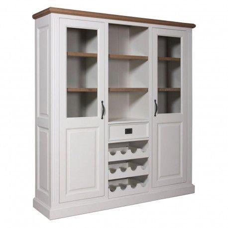 """Cabinet 2 portes 1 tiroir """"Chêne et Pin Romance"""""""