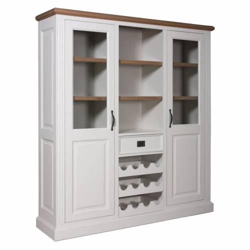 """Cabinet 2 portes 1 tiroir """"Chêne et Pin Romance"""" - cabinet design chic"""