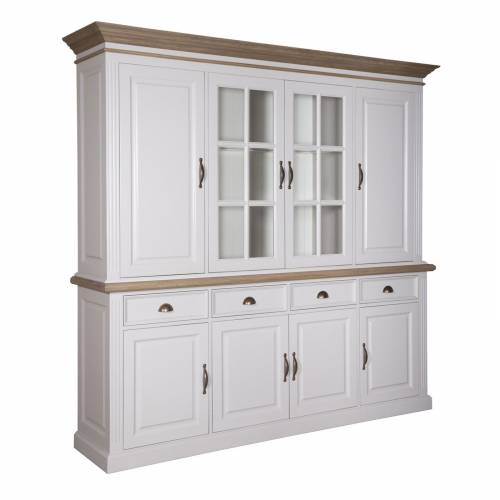"Buffet 2x4 portes 4 tiroirs ""Chic Oak"" - achat buffet deux corps"