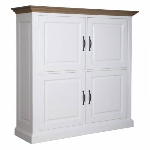 """Cabinet 4 portes """"Chêne et Pin Romance"""" - achat cabinet"""