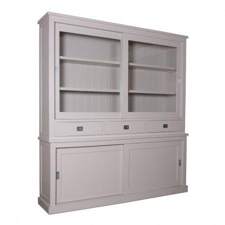 Buffet Vaisselier deux corps 2x2 portes 3 tiroirs | Pin Chic