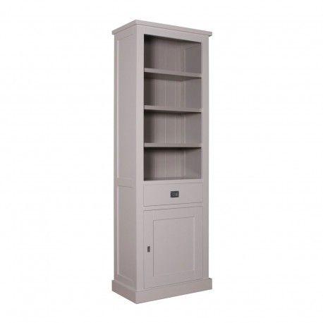 Bibliothèque 1 porte 1 tiroir - tourne à droite | Pin Chic