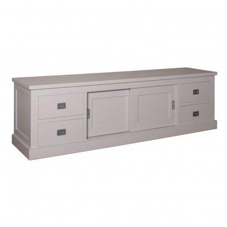 Meuble TV 2 portes 4 tiroirs | Pin Chic