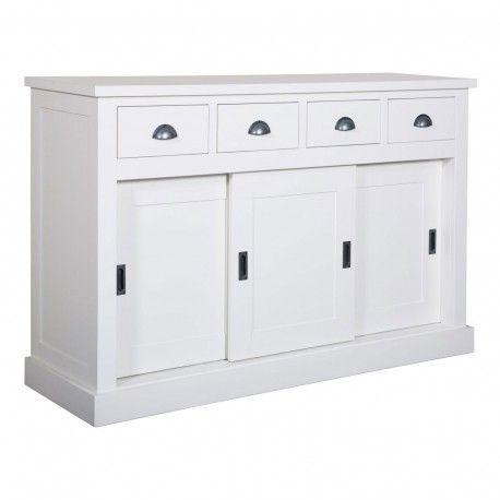 Bahut 3 portes 4 tiroirs   Pin Chic