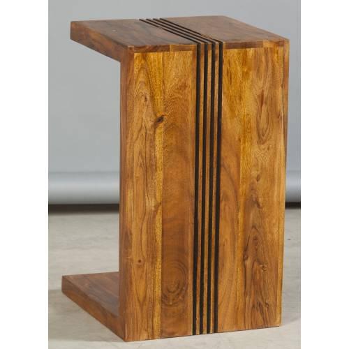 Bout de canapé Ascot haut de gamme en bois d'acacia massif