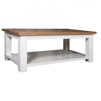 "Table de salon ""Chêne et Pin Chic"" - achat table basse"
