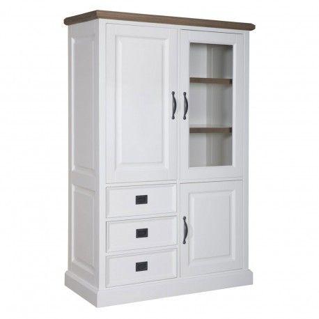 """Cabinet 3 portes 3 tiroirs """"Chêne et Pin Charme"""""""