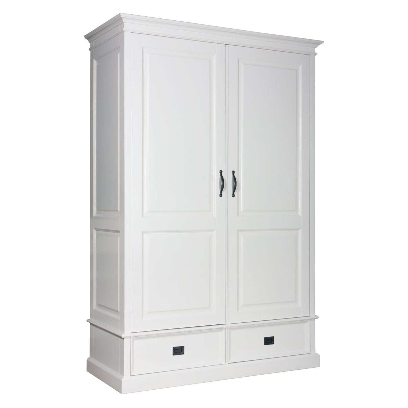 Armoire à linge 2 portes 2 tiroirs - grande armoire