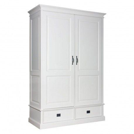 """Armoire à linge 2 portes 2 tiroirs - démontable """"Monique"""""""