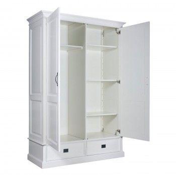 Armoire à linge 2 portes 2 tiroirs - démontable - achat armoire