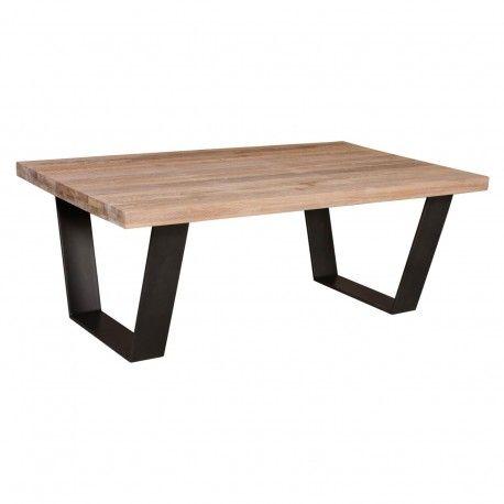 "Table basse rectangulaire 120 - Pied fer ""Chêne Design"""