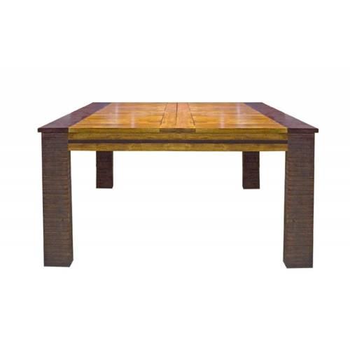Table de repas carrée ethnique chic Moon en acacia massif 140cm