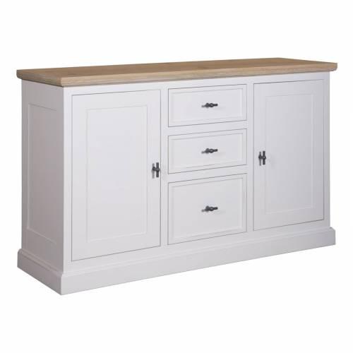 "Bahut 2 portes 3 tiroirs ""Chêne et Pin tradition"" - achat bahut"